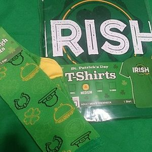 NWT. Irish maybe crewneck shirt and knee high sock
